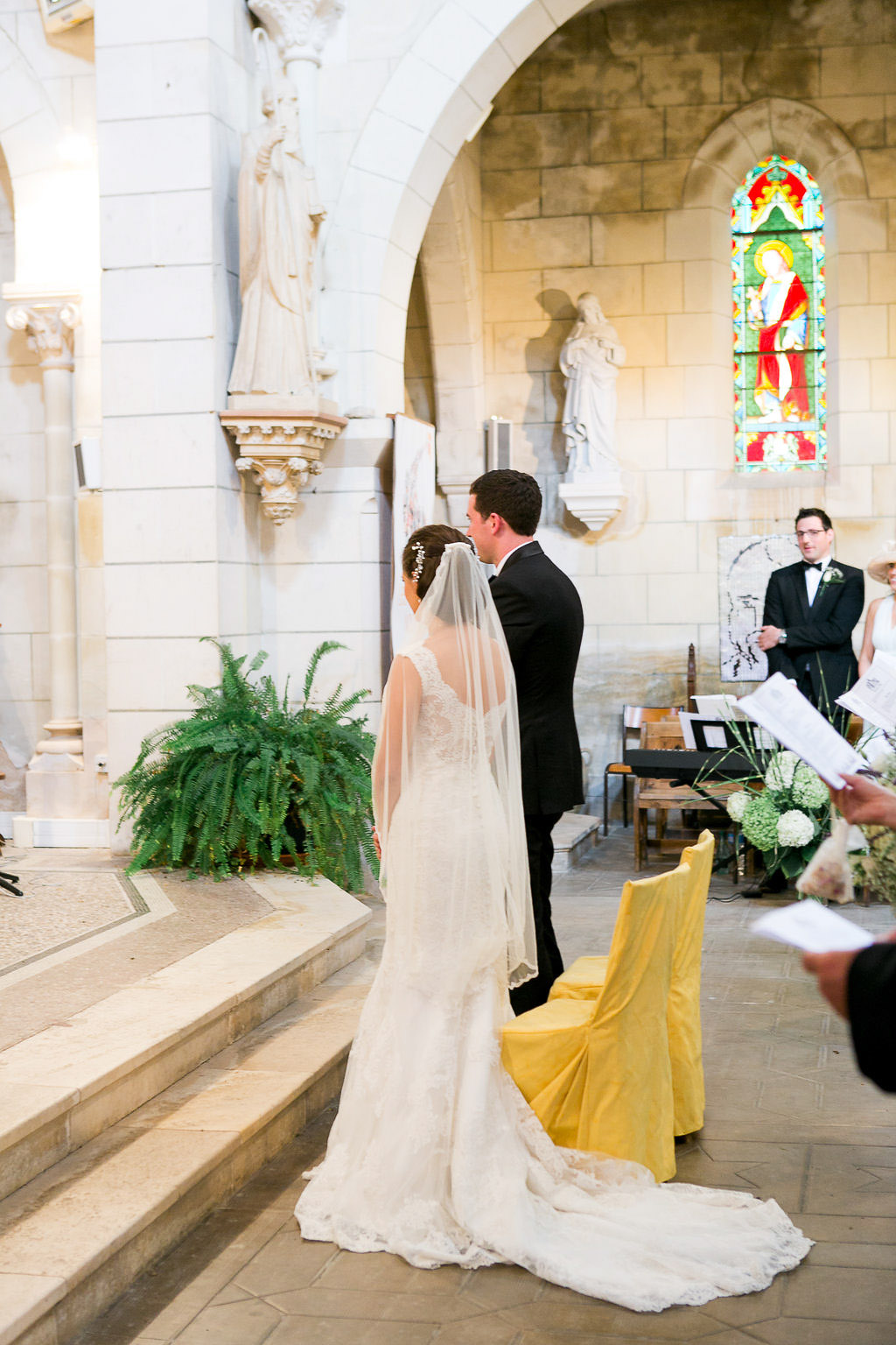 Church ceremony French Chateau Wedding Saint Julien l'Ars