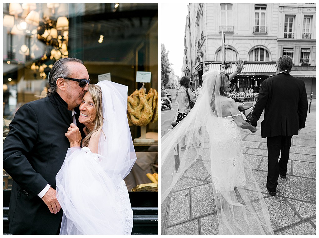 Wedding ideas for couples over 70. Intimate wedding in Paris. Photographer Elena